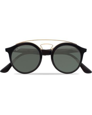 Ray-Ban RB4256 Round Sunglasses Black/Dark Green  i gruppen Assesoarer / Solbriller hos Care of Carl (12748610)