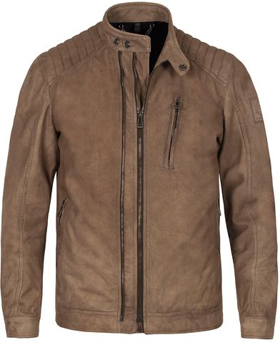 Belstaff Leigham Suede Jacket Light Brown i gruppen Kläder / Jackor / Skinnjackor hos Care of Carl (12754211r)
