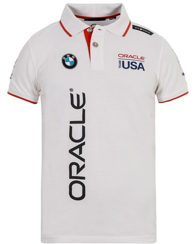 Sail Racing Oracle Cotton Polo White i gruppen Pikéer / Kortärmade pikéer hos Care of Carl (12755711r)