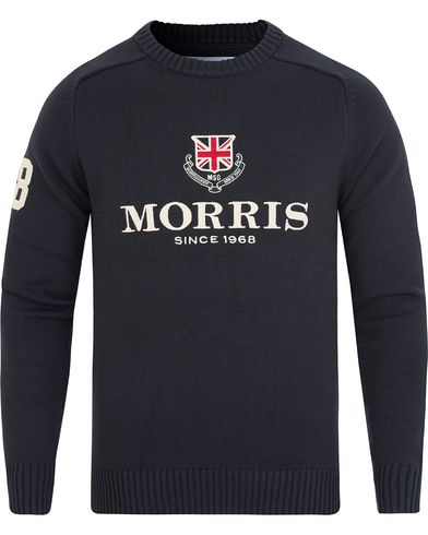 Morris Carl Hebrides Sweater Old Blue i gruppen Tröjor / Stickade tröjor hos Care of Carl (12759111r)