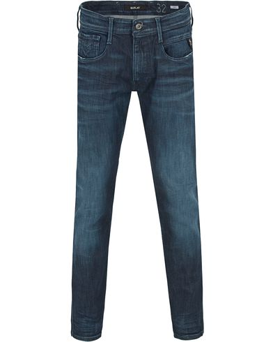 Replay M914 Anbass Waterzero Jeans Blue i gruppen Jeans / Avsmalnande jeans hos Care of Carl (13000311r)