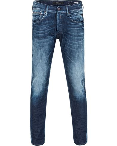 Replay MA946 Ronas Jeans Blue Washed i gruppen Jeans / Avsmalnande jeans hos Care of Carl (13001111r)
