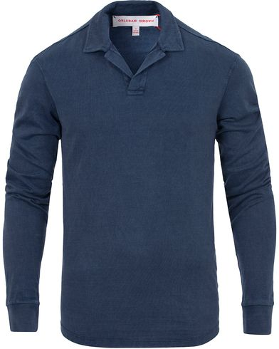 Orlebar Brown Miles Sweater Navy Wash i gruppen Design A / Pikéer / Langermet piké hos Care of Carl (13005611r)