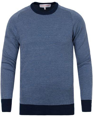 Orlebar Brown Palmer Knitted Sweater Navy/White/Black i gruppen Kläder / Tröjor / Stickade tröjor hos Care of Carl (13005811r)