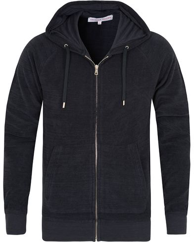 Orlebar Brown Brodie Zip Hood Ink Blue i gruppen Gensere / Hettegensere hos Care of Carl (13006211r)