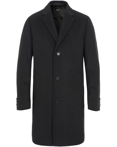 BOSS Stratus1 Wool/Cashmere Coat Black i gruppen Jackor / Vinterjackor hos Care of Carl (13006911r)