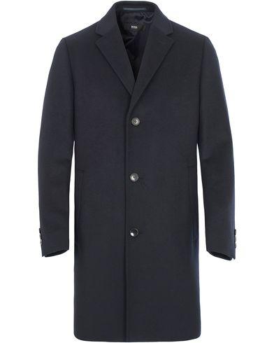 BOSS Stratus1 Wool/Cashmere Coat Dark Blue i gruppen Jackor / Vinterjackor hos Care of Carl (13007011r)