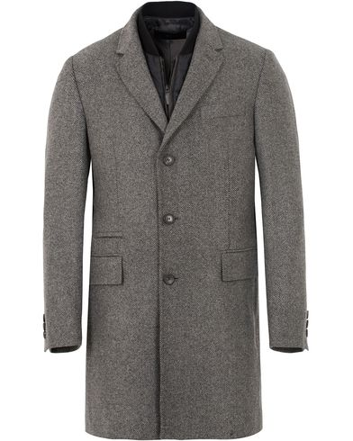 BOSS Nadim Structured Wool Coat Light/Pastel Grey i gruppen Kläder / Jackor / Vinterjackor hos Care of Carl (13007311r)