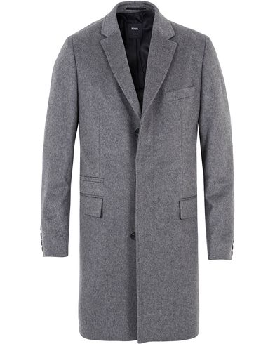 BOSS Tailored Neon1 Colombo Cashmere Coat Medium Grey i gruppen Jakker / Frakker hos Care of Carl (13007511r)
