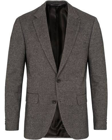 BOSS Jayson Patch Wool Blazer Salt&Pepper i gruppen Design A / Kavajer / Enkelknäppta kavajer hos Care of Carl (13007711r)