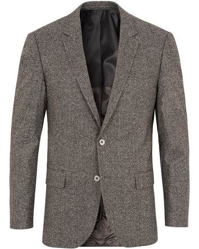 BOSS Hutson2 Wool/Silk Blazer Light Grey i gruppen Kavajer hos Care of Carl (13007811r)