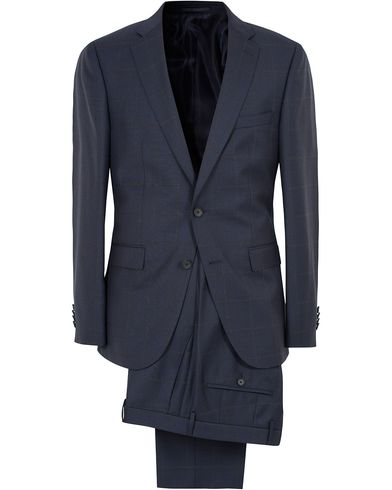BOSS Novan3/Ben Wool Check Suit Navy i gruppen Klær / Dresser hos Care of Carl (13008011r)