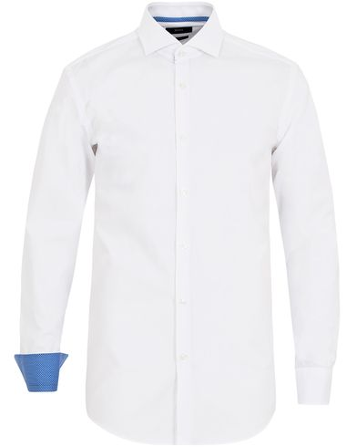 BOSS Jery Slim Fit Contrast Shirt White i gruppen Klær / Skjorter / Formelle skjorter hos Care of Carl (13008311r)