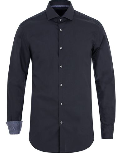 BOSS Jery Slim Fit Contrast Shirt Dark Blue i gruppen Skjortor / Formella skjortor hos Care of Carl (13008411r)