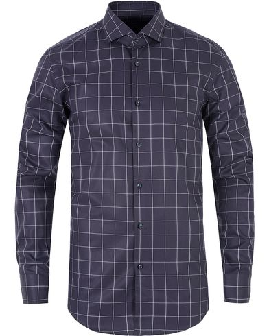 BOSS Jason Large Check Slim Fit Shirt Dark Blue i gruppen Skjortor / Casual skjortor hos Care of Carl (13008611r)