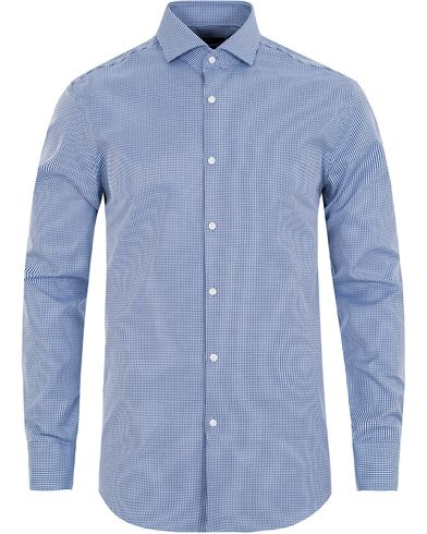 BOSS Jason Pepita Slim Fit Shirt Blue i gruppen Design A / Skjorter / Formelle skjorter hos Care of Carl (13008811r)