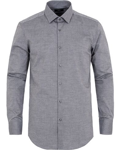 BOSS Jenno Dot Slim Fit Shirt Light Grey i gruppen Skjorter / Businesskjorter hos Care of Carl (13008911r)