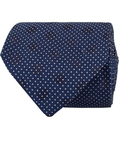 BOSS Dot With Dot Silk 8 cm Tie Blue  i gruppen Assesoarer / Slips hos Care of Carl (13009110)