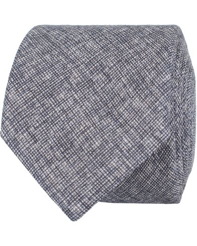 BOSS Wool 6 cm Tie Blue Melange  i gruppen Accessoarer / Slipsar hos Care of Carl (13009510)