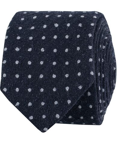 BOSS Dot Silk 6 Tie Dark Blue  i gruppen Assesoarer / Slips hos Care of Carl (13009610)