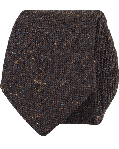 BOSS Donegal Silk/Wool 6 Cm Tie Brown  i gruppen Accessoarer / Slipsar hos Care of Carl (13009710)