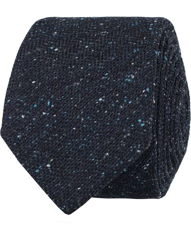 BOSS Donegal Silk/Wool 6 Cm Tie Blue  i gruppen Assesoarer / Slips hos Care of Carl (13009810)