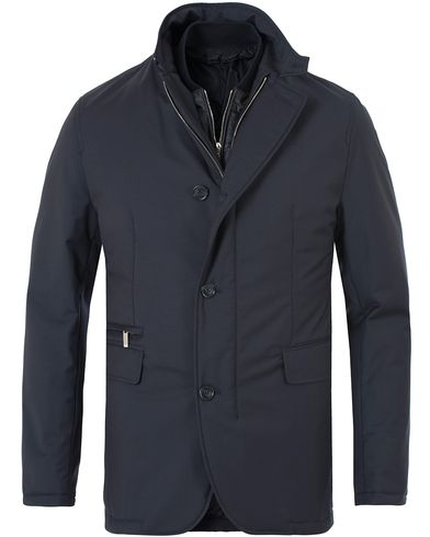 BOSS Tailored Jorik Loro Piana Blazer Jacket Dark Blue i gruppen Klær / Jakker / Vatterte jakker hos Care of Carl (13010711r)