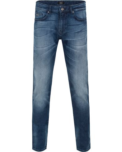 BOSS Delaware 3 Jeans Washed Blue i gruppen Klær / Jeans / Avsmalnende jeans hos Care of Carl (13011811r)