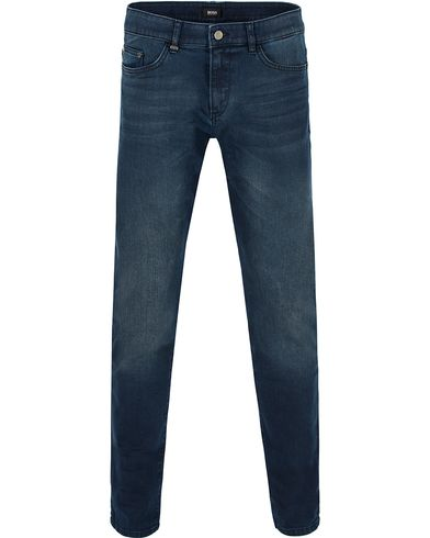 BOSS Delaware 3 Jeans Coated Blue i gruppen Jeans / Avsmalnende jeans hos Care of Carl (13012011r)