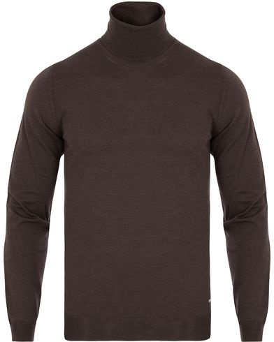 BOSS Musso Merino Rollneck Coffee Bean i gruppen Tr�jor / Polotr�jor hos Care of Carl (13012811r)