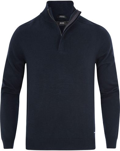 BOSS Bonny Half Zip Navy i gruppen Gensere / Zip-gensere hos Care of Carl (13013011r)