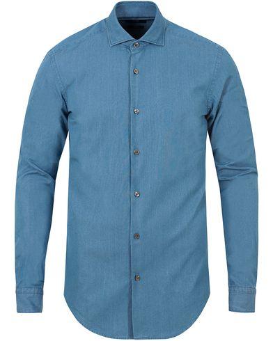 BOSS Ridley Denim Slim Fit Shirt Light Blue i gruppen Skjorter / Jeansskjorter hos Care of Carl (13013311r)