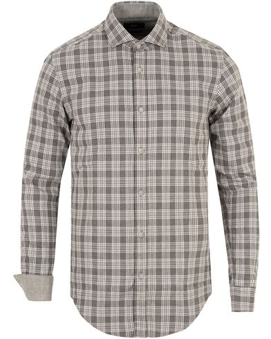 BOSS Ridley Check Slim Fit Shirt Medium Grey Melange i gruppen Skjorter / Casual skjorter hos Care of Carl (13013511r)