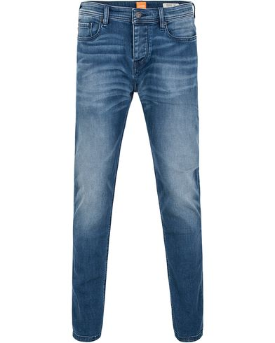 Boss Orange 90 Tapered Fit Jeans Washed Medium Blue i gruppen Jeans / Avsmalnende jeans hos Care of Carl (13013611r)