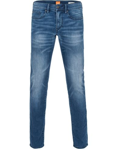 Boss Orange 72 Skinny Fit Jeans Washed Medium Blue i gruppen Jeans / Smale Jeans hos Care of Carl (13014211r)