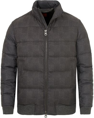 Boss Orange Okayden Glencheck Print Down Jacket Black i gruppen Kläder / Jackor / Vadderade jackor hos Care of Carl (13014711r)