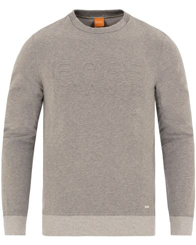 Boss Orange Woorth Punched Logo Sweatshirt Grey Melange i gruppen Tröjor / Sweatshirts hos Care of Carl (13014911r)