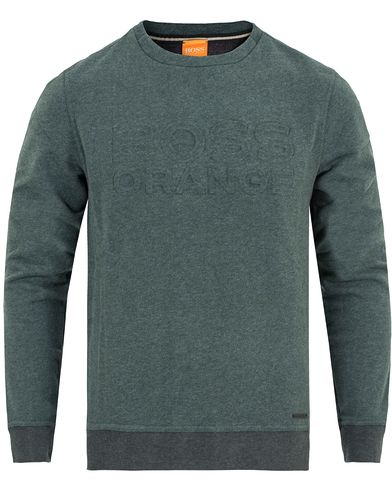 Boss Orange Woorth Punched Logo Sweatshirt Emerald Green Melange i gruppen Kläder / Tröjor / Sweatshirts hos Care of Carl (13015011r)