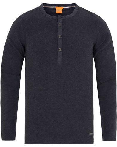 Boss Orange Topsider Grandpa Sweater Dark Blue i gruppen Klær / Gensere / Bestefartrøyer hos Care of Carl (13015211r)