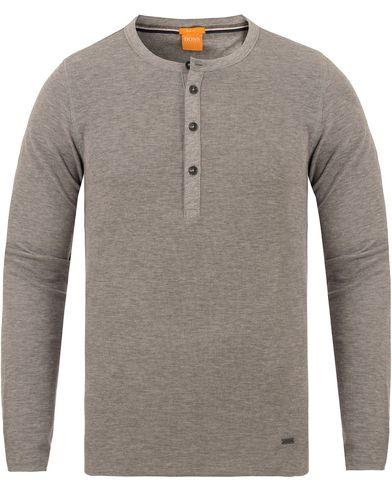 Boss Orange Topsider Grandpa Sweater Grey Melange i gruppen Tröjor / Stickade tröjor hos Care of Carl (13015311r)