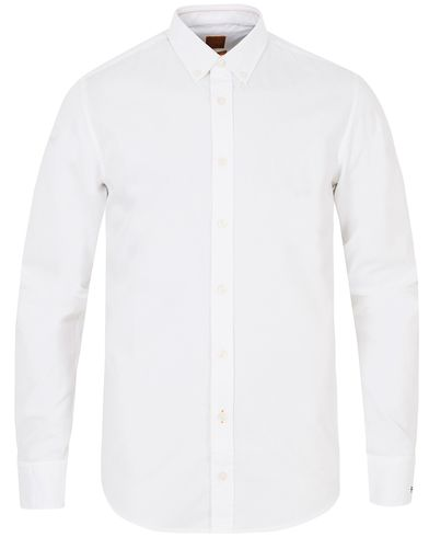 Boss Orange EdipoE Bandit Slim Fit Shirt White i gruppen Skjortor / Casual skjortor hos Care of Carl (13016211r)