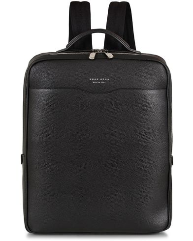 BOSS Signature Backpack Black Leather  i gruppen Vesker / Ryggsekker hos Care of Carl (13016910)