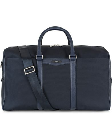 BOSS Signature Holdall Weekendbag Blue Canvas  i gruppen Assesoarer / Vesker / Weekendbager hos Care of Carl (13017410)