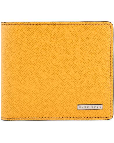 BOSS Signature 8cc Credit Wallet Yellow Leather  i gruppen Accessoarer / Plånböcker hos Care of Carl (13017610)