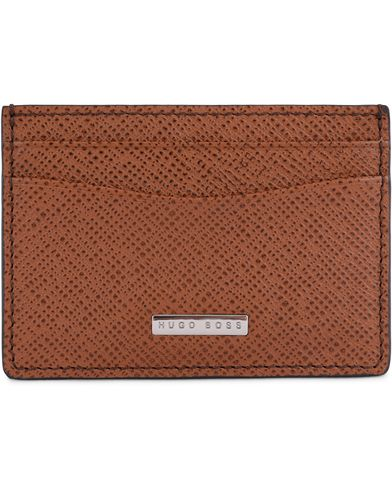 BOSS Signature S Creditcard Holder Cognac Leather  i gruppen Accessoarer / Plånböcker / Korthållare hos Care of Carl (13018010)