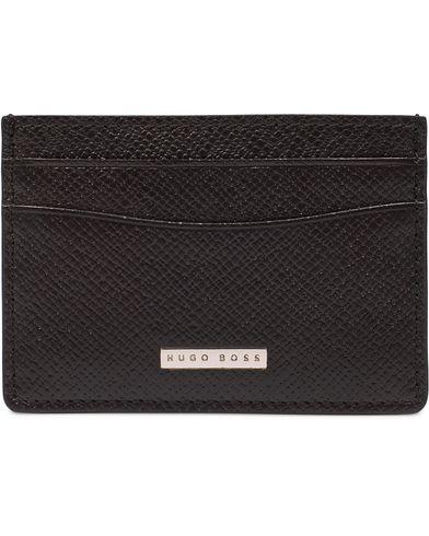 BOSS Signature S Creditcard Holder Black Leather  i gruppen Assesoarer / Lommebøker / Kortholdere hos Care of Carl (13018110)