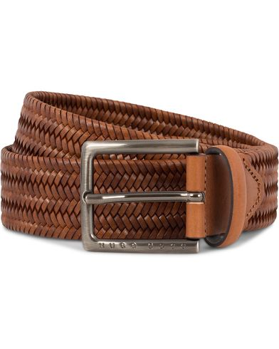 BOSS Semyo Braided Leather 3,5 cm Belt  Cognac i gruppen Assesoarer / Belter / Flettede belter hos Care of Carl (13018411r)