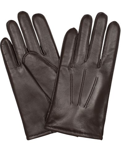 BOSS Haindt 2 Leather Gloves Dark Brown i gruppen Säsongens nyckelplagg / Promenadhandskarna hos Care of Carl (13018511r)