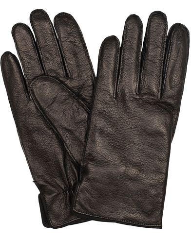 BOSS Kranto 3 Graid Leather Gloves Black i gruppen Sesongens n�kkelplagg / Hanskene til spaserturen hos Care of Carl (13018811r)