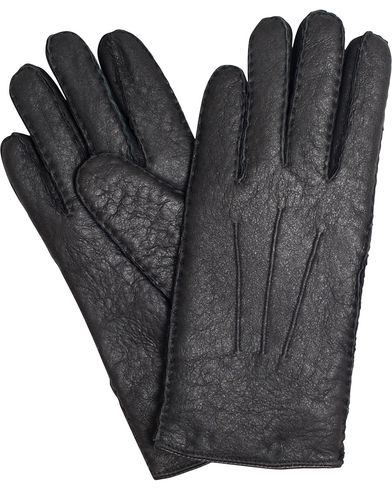 BOSS T-Hebis Lambskin Gloves Black i gruppen Säsongens nyckelplagg / Promenadhandskarna hos Care of Carl (13018911r)